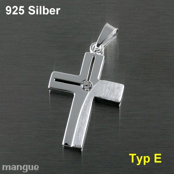 Kreuz Anhänger Kommunion Taufe Konfirmation 925 Silber auf Wunsch mit Kette