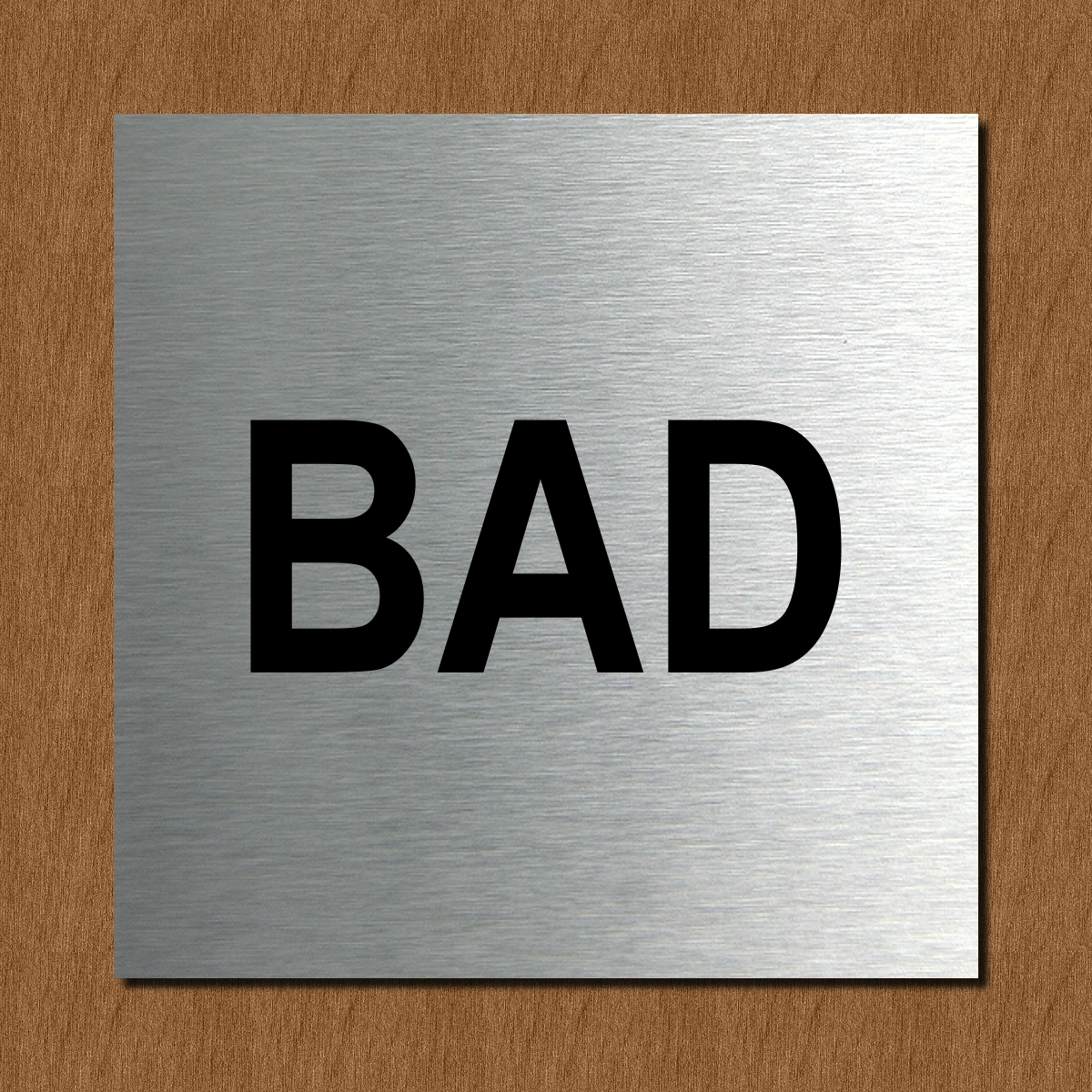 Schild t rschild edelstahl design piktogramm b ro bad for Bad wc design